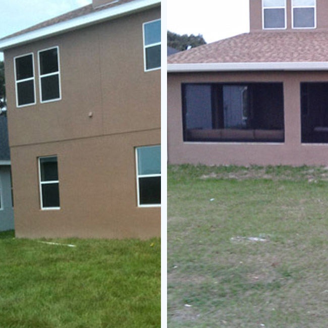 Outdoor Kitchen Addition before and after