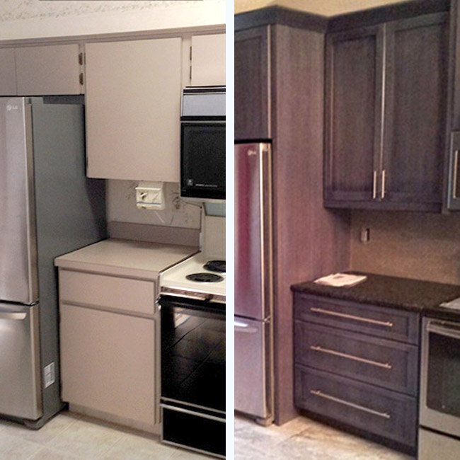 Waage's Kitchen before and after