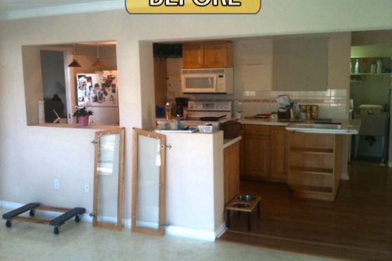 Kitchen Remodel Before, During & After