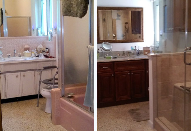 St. Pete Bathroom Before and After